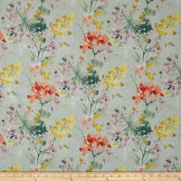 Swavelle Dove Love Floral Barkcloth Celestial