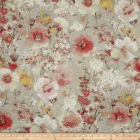 Swavelle/Mill Creek Beauhaven Floral Barkcloth Rosemist