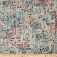 Swavelle Scavusso Abstract Barkcloth Rosecloud