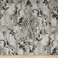 Swavelle Cauthen Damask Barkcloth Fog