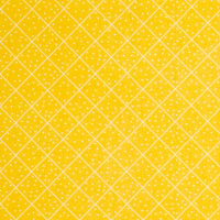 QT Fabrics  The Quilted Cottage Dotted Diamond Check Yellow