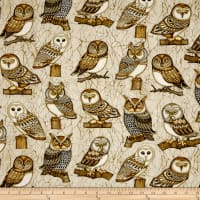 QT Fabrics Where The Wise Thing Owl One Way Cream