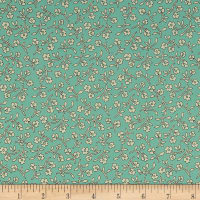 Harlow Floral Spray Light Aqua