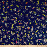 QT Fabrics Holiday Minis Angels & Stars Royal