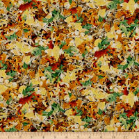 QT Fabrics Labrador Able Leaves Multi