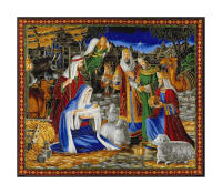 "Miracle In Bethlehem Miracle In Bethlehem 36"" Panel Gold Metallic/Multi"
