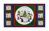 "Peanuts Peace*Love*Joy Peace Love Joy Caroler 24"" Panel Navy"
