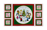 "Peanuts Peace*Love*Joy Peace Love Joy Caroler 24"" Panel White"