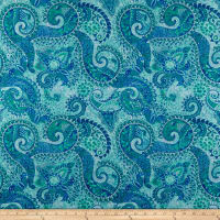 Purr-Suasion Paisley Blue/Green