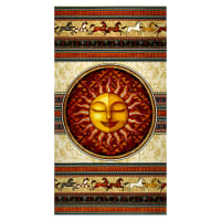 "QT Fabrics  Southwest Soul Sun 24"" Panel Multi"