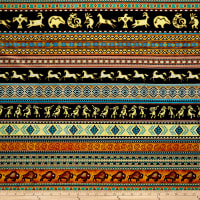 QT Fabrics  Southwest Soul Southwest Decorative Stripe Multi