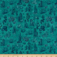 QT Fabrics  Southwest Soul Cactus Medium Teal