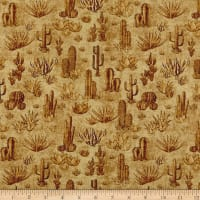 QT Fabrics  Southwest Soul Cactus Strawberry
