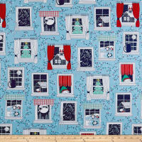 Ink & Arrow Twinkle Twinkle Christmas Windows Light Blue