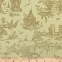 Covington Secret Garden Toile Indoor/Outdoor Linen
