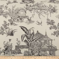 Covington Secret Garden Toile Indoor/Outdoor Ebony/Ivory