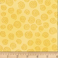 "Westrade 110"" Flannel Wide Backs  Swirls Yellow"