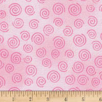 "Westrade 110"" Flannel Wide Backs  Swirls Pink"