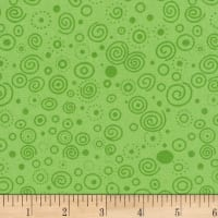 "Westrade 110"" Flannel Wide Backs Ditzy Lime"