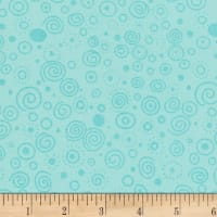 "Westrade 110"" Flannel Wide Backs Ditzy Aqua"