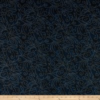 "Westrade 110"" Wide Backs Scrolls Navy with Silver"