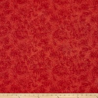 "Westrade 110"" Wide Backs Scrolls Red with Gold"