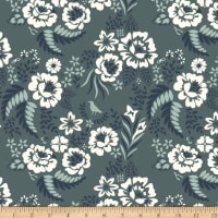 Birch Organic Merryweather Floral Canvas Slate