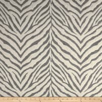 Tiger Striped Chenille Jacquard Silver
