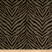 Tiger Striped Chenille Jacquard Midnight