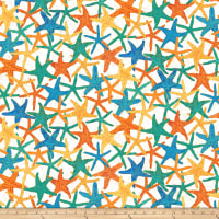 Shimmer Oasis Metallic Starfish White