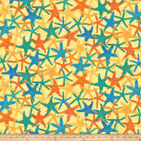 Shimmer Oasis Metallic Starfish Yellow
