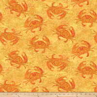 Shimmer Oasis Metallic Crabs Yellow