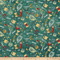 A Stitch In Time Sewing Toss Teal