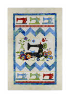 "A Stitch In Time 28"" Panel Black"