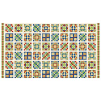 "A Stitch In Time Quilt 24"" Panel Blocks Off White"