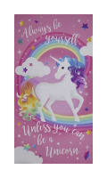 "Unicorn Magic Unicorn Glitter 24"" Panel Pink"