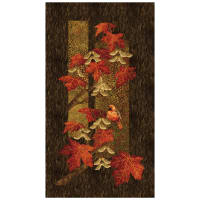"Stonehenge Maplewood Woodland 24"" Panel Red"