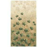 "Stonehenge Maplewood 24"" Panel Falling Leaves Teal"