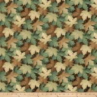 Stonehenge Maplewood Leaves Blue/Brown