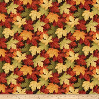 Stonehenge Maplewood Leaves Multi