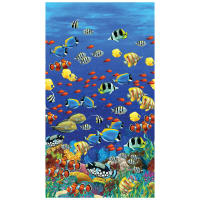 "Coral Reef Digital Under The Sea 24"" Panel Multi"