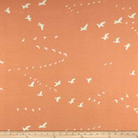 Birch Organic Basics Flight Interlock Knit Peachy