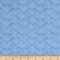 Peacocks In Blue Mini Bird Foulard Blue/White