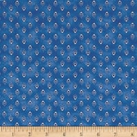 Peacocks In Blue Mini Bird Foulard Dark Blue/White