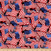 America Tossed Flags Blue/Multi
