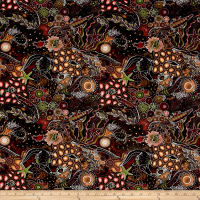 Down Under Aboriginal Tossed Sea Creatures Cocoa/Multi