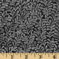 Romance Vines Metallic Black