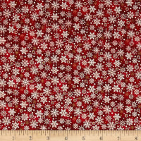 Noel Snowflakes Metallic Red