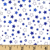 Noel Small Stars Metallic White/Multi