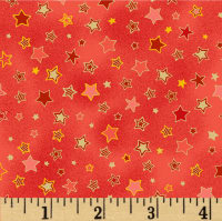 Noel Small Stars Metallic Red/Multi